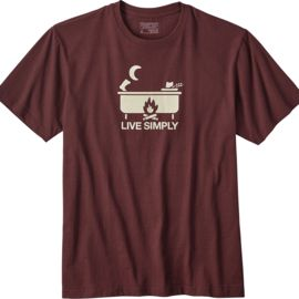 Patagonia Men's Live Simply Hot Tub Cotton/Poly T-Shirt