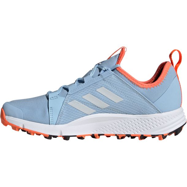 Damen Terrex Speed GTX Schuhe glow blue white coral UK 4.5