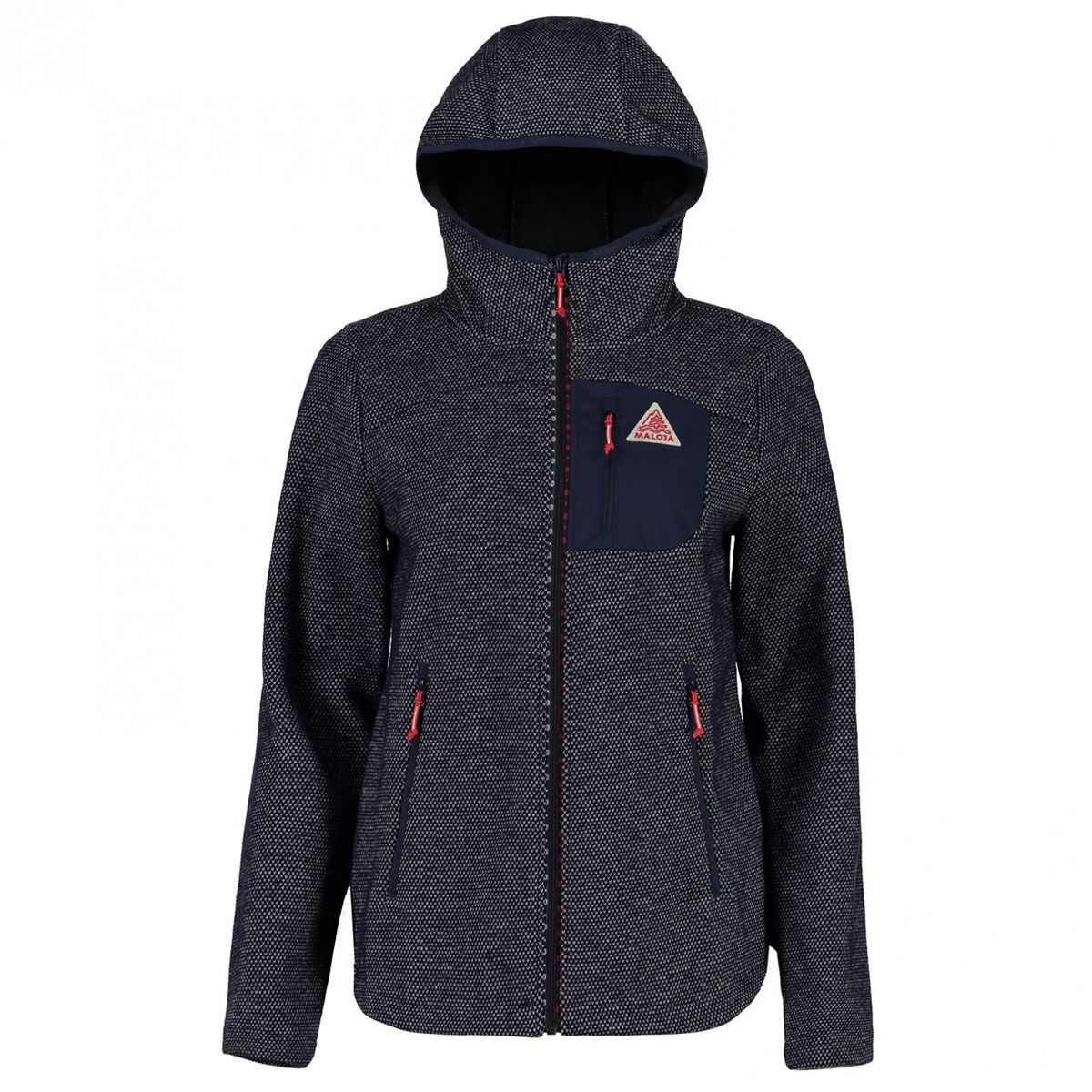 Maloja Damen TegiaM. Hooded Wool Jacke (Größe M, Blau) | Fleecejacken > Damen