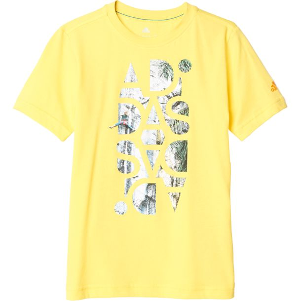 adidas Kinder Boys Graphic T-Shirt bright yellow 110