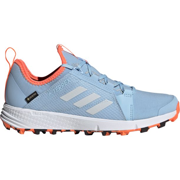 Damen Terrex Speed GTX Schuhe glow blue white coral UK 5.5
