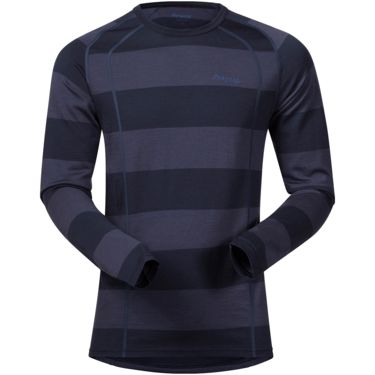 Bergans Herren Fjellrapp Shirt dark navy/nightblue striped S