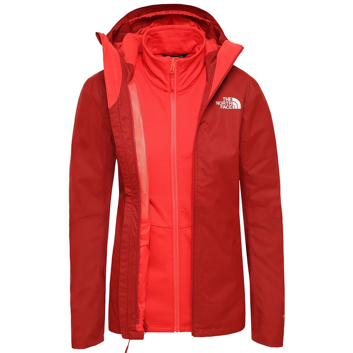 The North Face Damen Quest Triclimate Jacke (Größe XS, Rot) | Doppeljacken > Damen