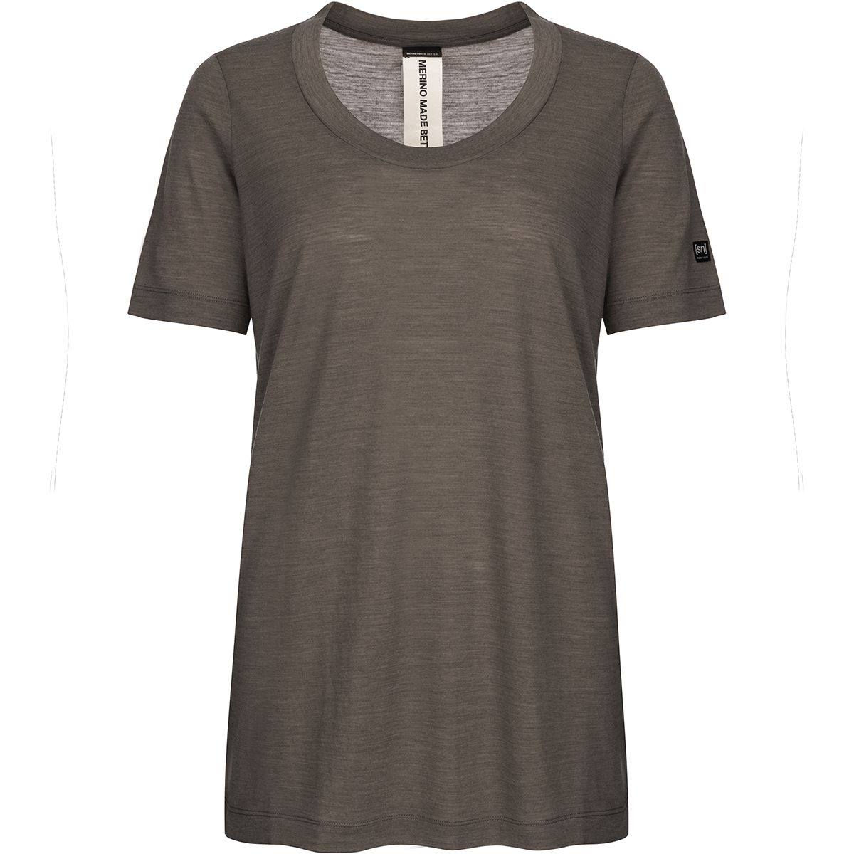 Super.Natural Damen Oversize T-Shirt (Größe S, Braun)