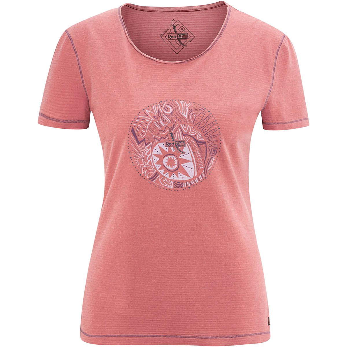 Red Chili Damen Emily T-Shirt (Größe M, Rot) | T-Shirts Freizeit > Damen