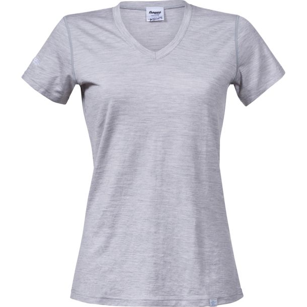 Bergans Women's Bloom Merino T-Shirt grey mel XS
