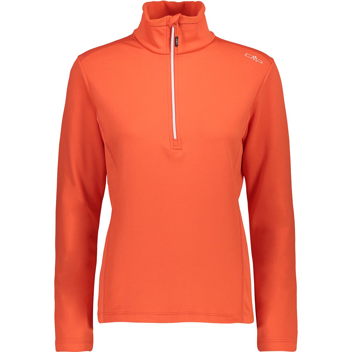 CMP Damen Grid Tech Pullover (Größe S, Orange) | Pullover > Damen