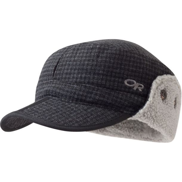 ab9b38fe7836f Buy Outdoor Research Men s Yukon Cap charcoal black plaid S online ...