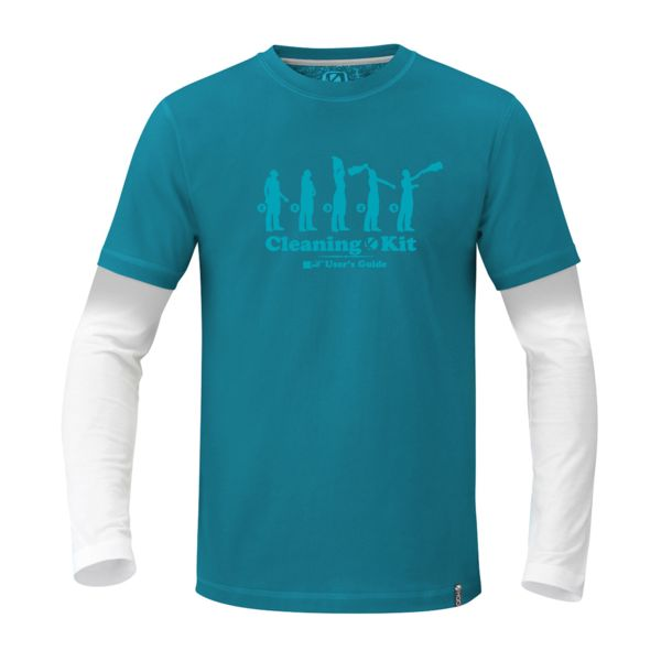 abk Men's Kit LS tropic blue S