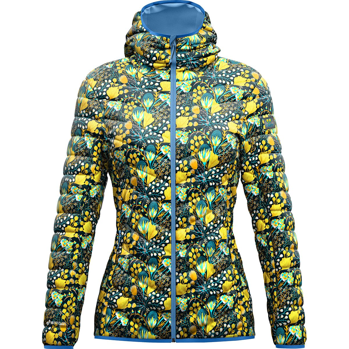 Crazy Idea Damen Summit Jacke (Gelb) | Isolationsjacken > Damen