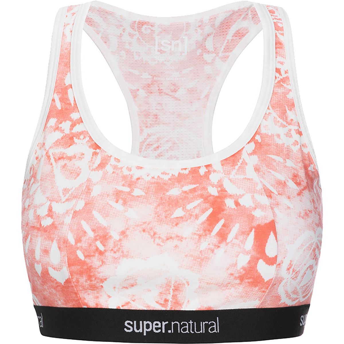 Super.Natural Damen Yoga Printed Sport BH (Größe XS, Orange) | Sport-BHs > Damen