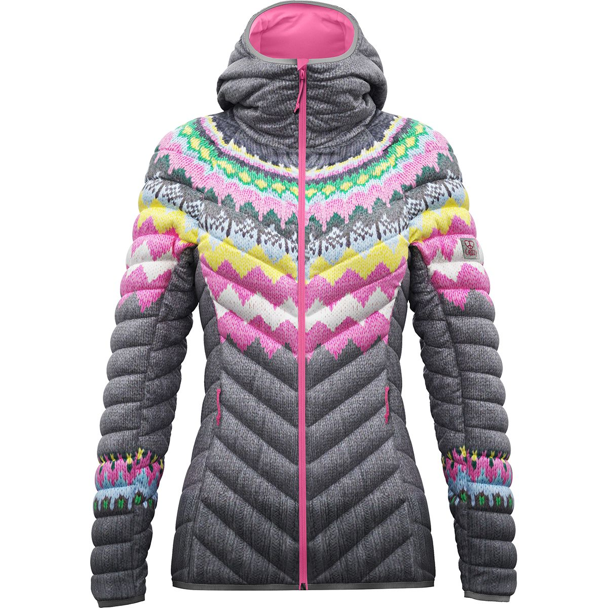 Crazy Idea Damen Summit Jacke (Grau) | Isolationsjacken > Damen