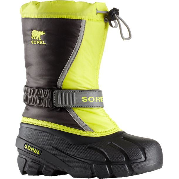 f1067983c7 Sorel Kinder Flurry Winterstiefel dark grey-warning yellow 26