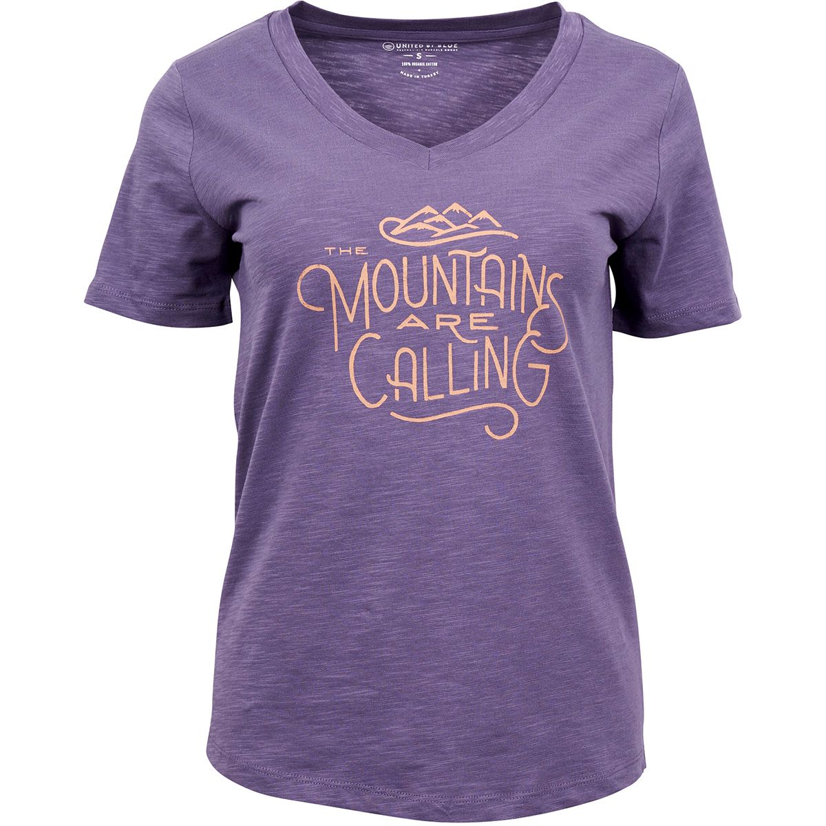United by Blue Damen Mountain Are Calling T-Shirt (Größe S, Lila) | T-Shirts Freizeit > Damen