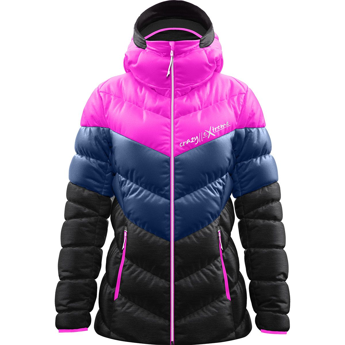 Crazy Idea Damen Everest Jacke (Größe S, Pink) | Isolationsjacken > Damen