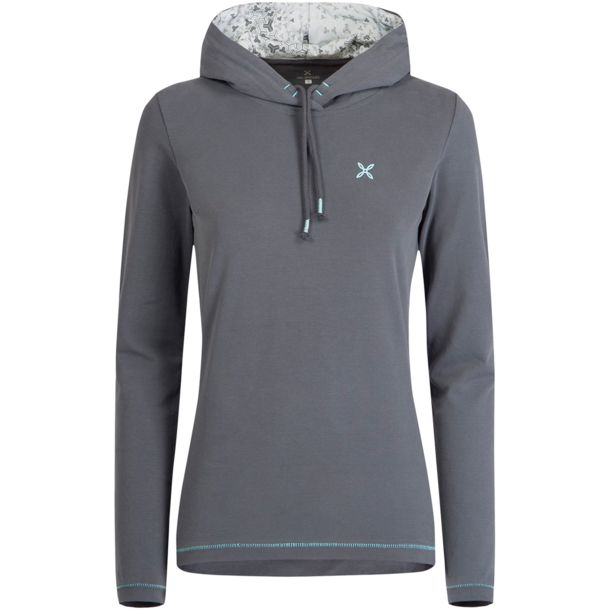 outlet store c37b8 318ed Damen Change Hoodie piombo-ice blue XS