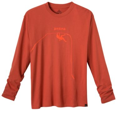Prana Men's Solo Longsleeve indian red indian red S