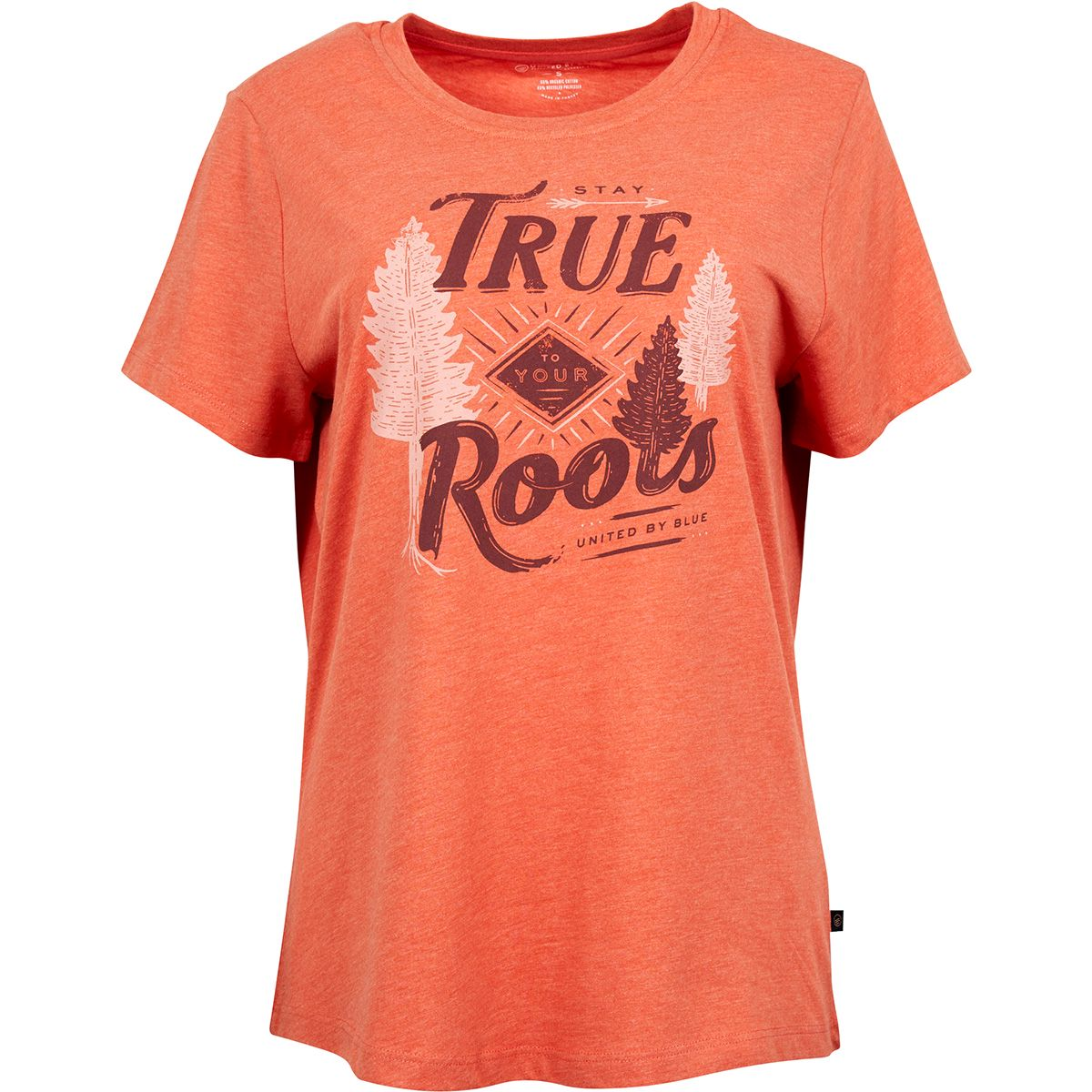 United by Blue Damen Stay True T-Shirt (Größe XS, Rot) | T-Shirts Freizeit > Damen