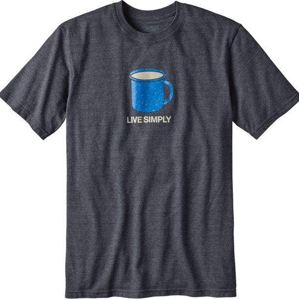 Patagonia Herren Live Simply Mornings Responsibili-Tee Forge Grey S