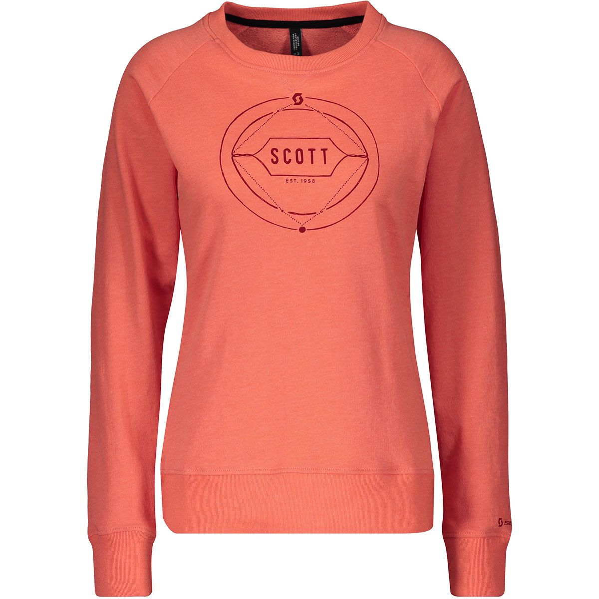 Scott Damen Crewneck Casual 10 Pullover (Größe L, Orange) | Pullover > Damen