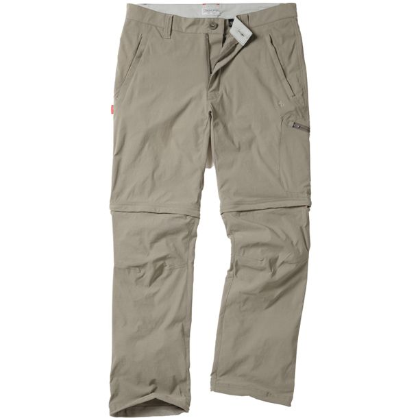 Craghoppers Men's NosiLife Pro Zip Off Trouser pebble SHORT-32