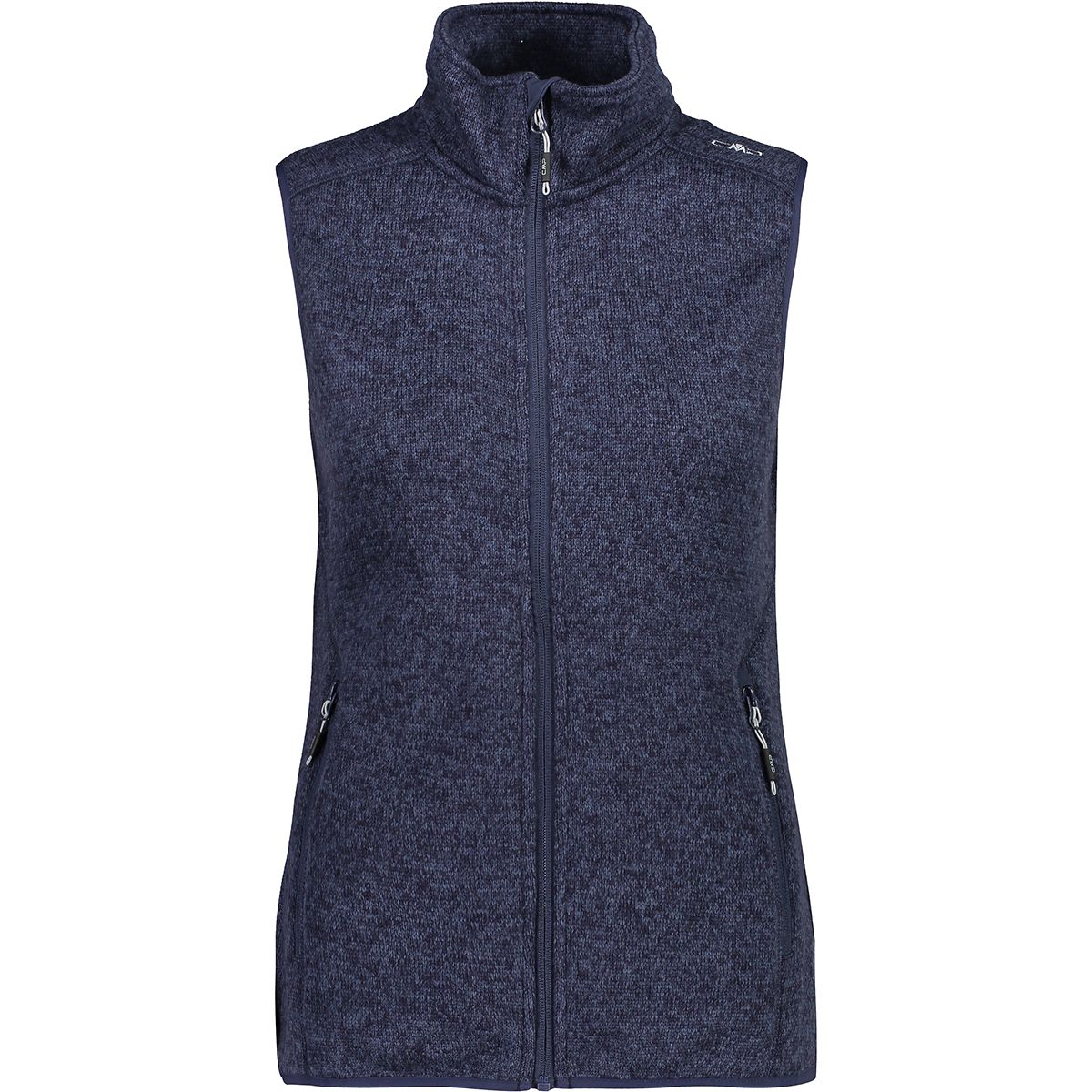 CMP Damen Strick Fleece Weste (Größe 5XL, Blau) | Fleecewesten > Damen