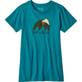 Patagonia Dames Eat Local Upstream Cotton/Poly Dames T-Shirt