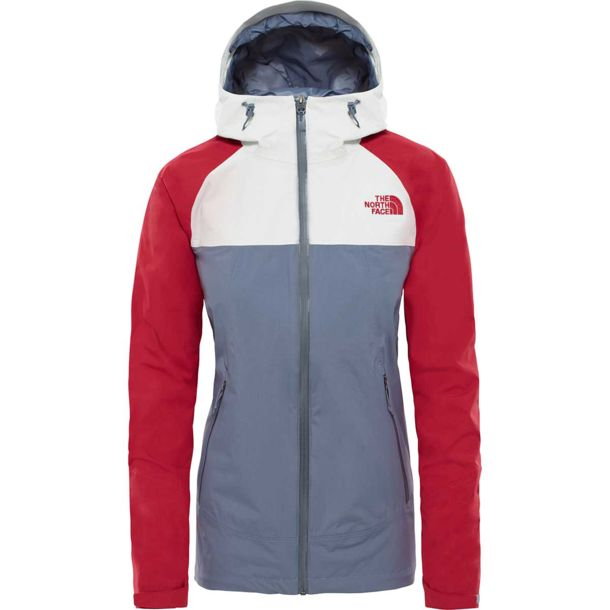 65245332768 The North Face Women s Stratos Jacket grisllegry-tingry-rumbred ...