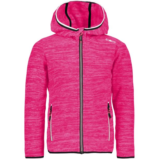 Kinder Girls Jaquard Fleece Jacke fuxia fluo mel. 104