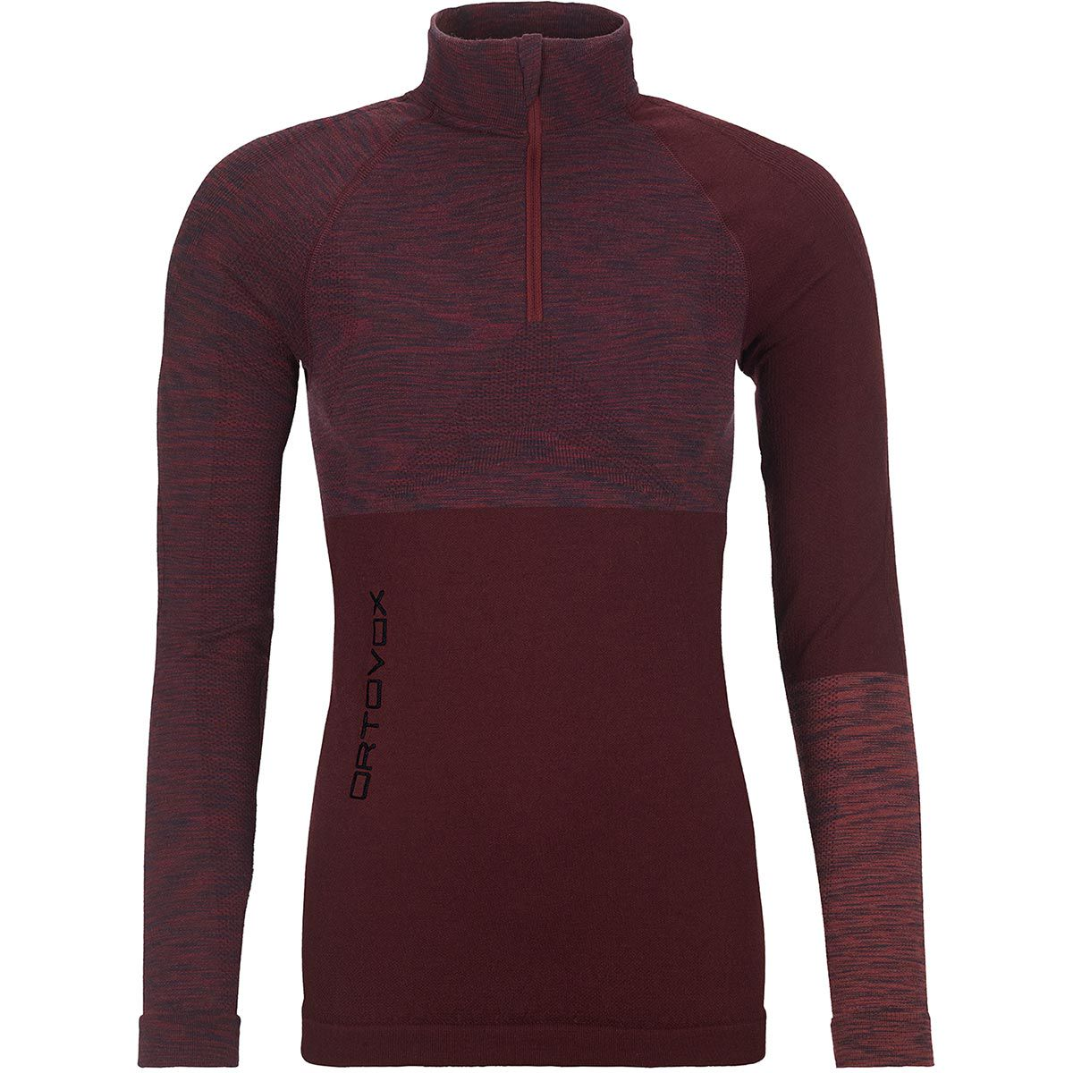 Ortovox Damen Competition Zip Shirt red berry (Größe XS, Rot) | Langarm Unterhemden > Damen