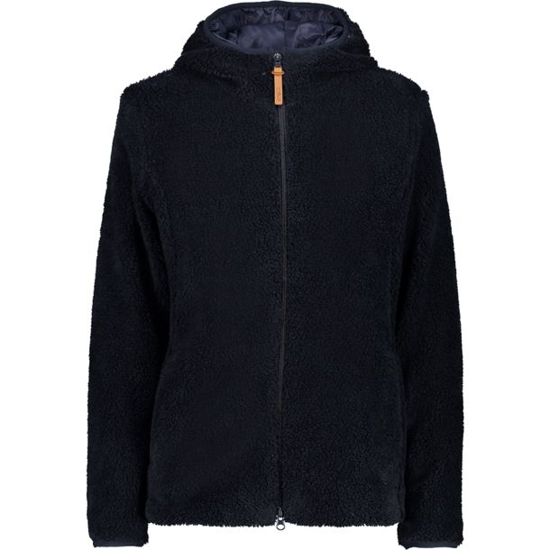 Damen Teddy Fix Hoodie Jacke black blue EU 44