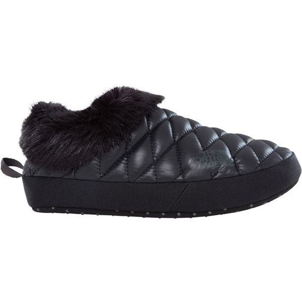 539ac25505 The North Face Damen Thermoball Tent Mule Faux Fur IV Hausschuhe shiny black -beluga grey