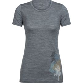 Icebreaker Damen Tech Lite Low Crewe Through the Forest T-Shirt
