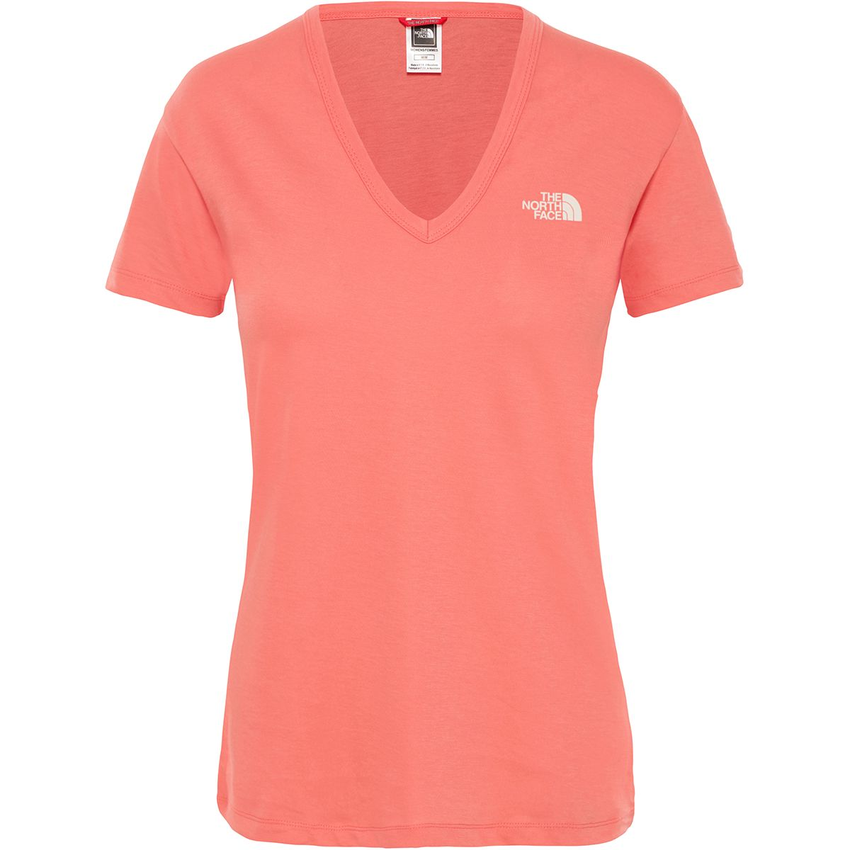 The North Face Damen Simple Dom T-Shirt (Größe XS, Rot) | T-Shirts Freizeit > Damen