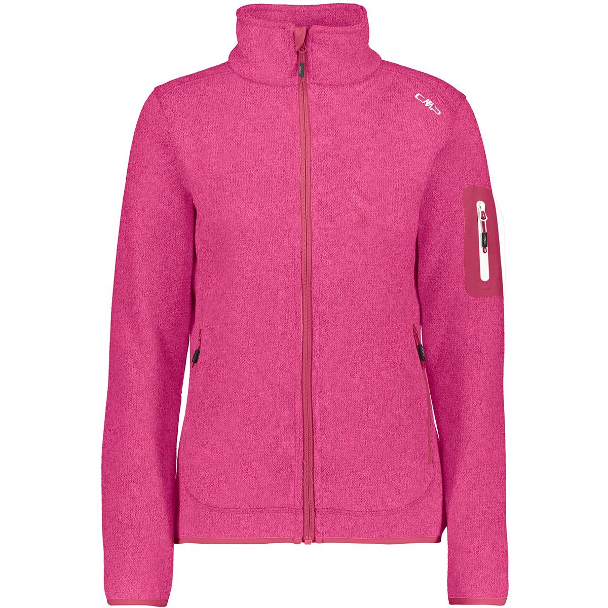 CMP Damen Strick Fleece Jacke (Größe XXL, Pink) | Fleecejacken > Damen