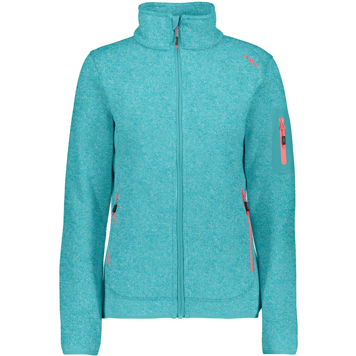 CMP Damen Strick Fleece Jacke (Größe M, Blau) | Fleecejacken > Damen