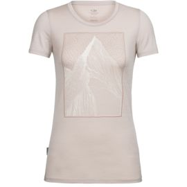Icebreaker Damen Tech Lite Low Crewe At My Peak T-Shirt