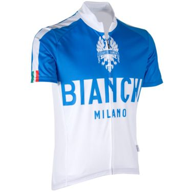 Bianchi Men's Nalon Cycling Jersey weiß/blau S