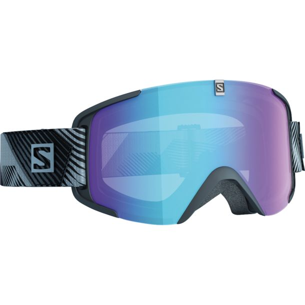 Salomon X-View Photochromic Ski Goggles Black/All Wea Blue