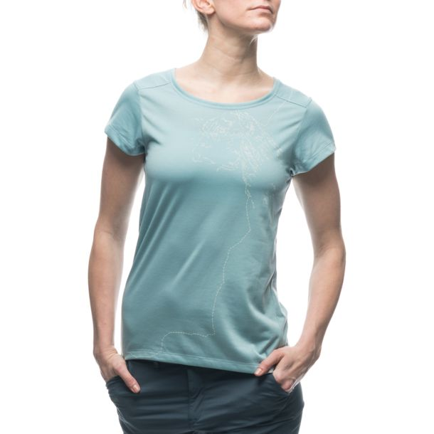 Houdini Dames Rock Steady W's Tee chambray blue XS