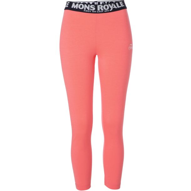 Mons Royale Damen Leggings coral XS