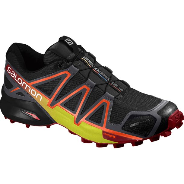 Salomon Herren Speedcross 4 CS Schuhe black-magnet UK12