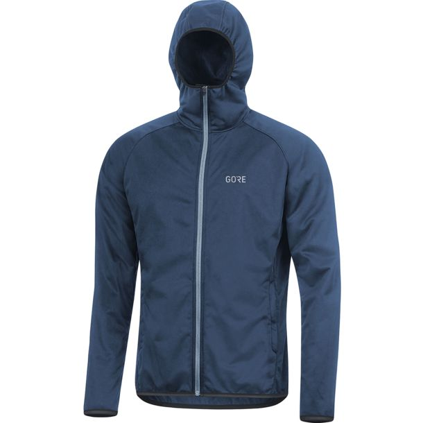 Herren R3 WINDSTOPPER® Hoodie deep water blue M