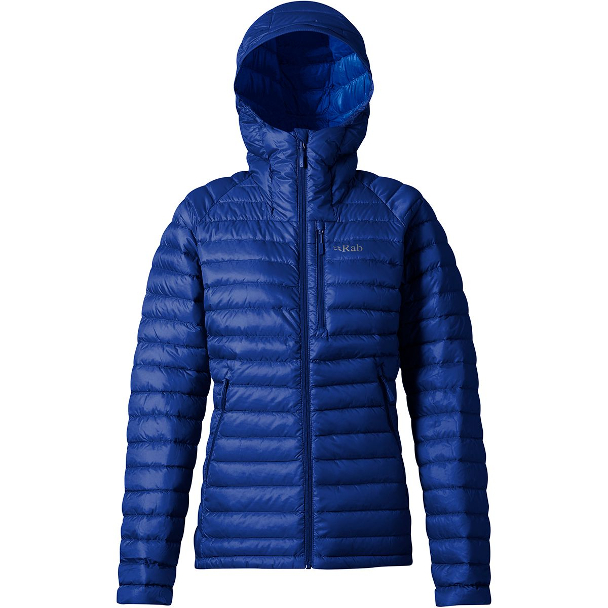 Rab Damen Microlight Alpine Long Jacke (Größe XS, Blau) | Isolationsjacken > Damen