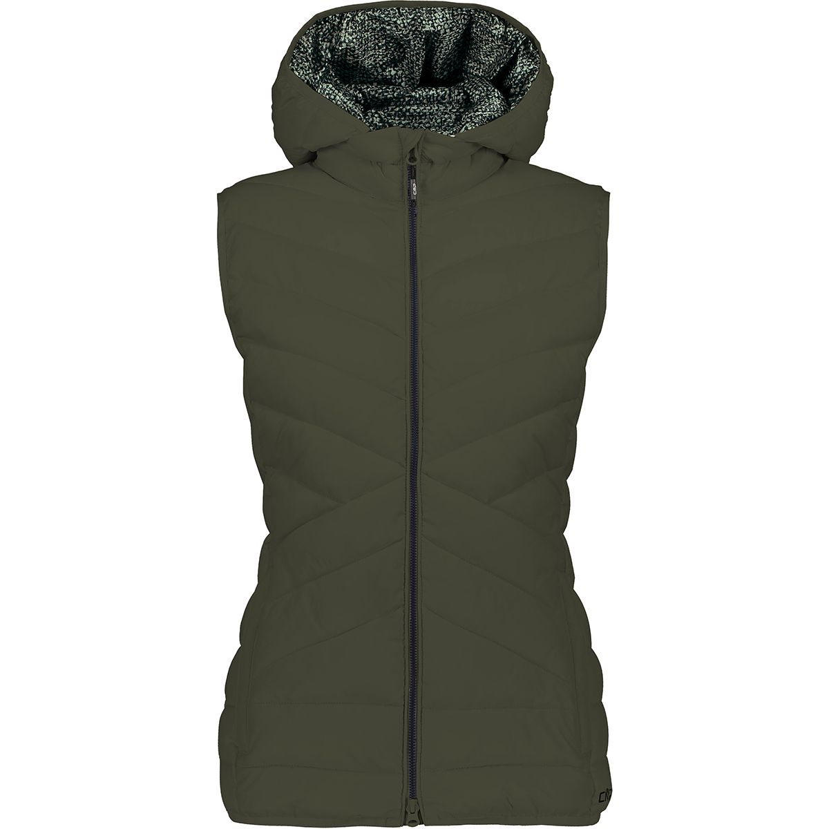 CMP Damen Zip Hoodie Weste (Größe XL, Oliv) | Isolationswesten > Damen