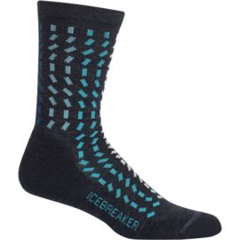 Icebreaker Damen Lifestyle Light Crew Rectangle River Socken