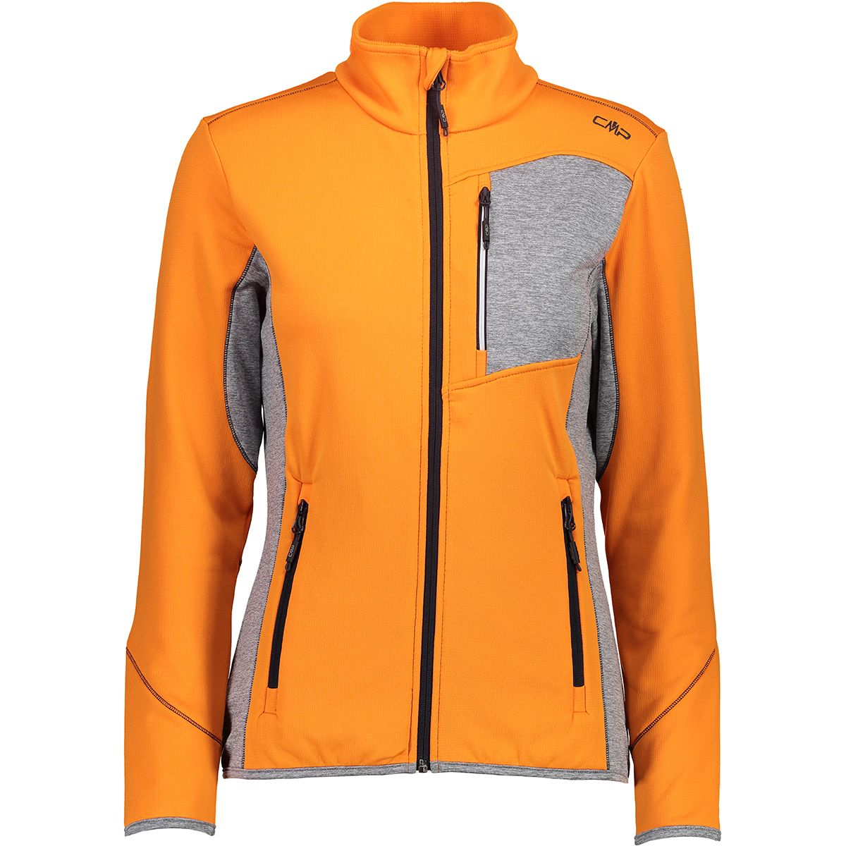 CMP Damen Gridtech Fleece Jacke (Größe L, Orange) | Fleecejacken > Damen