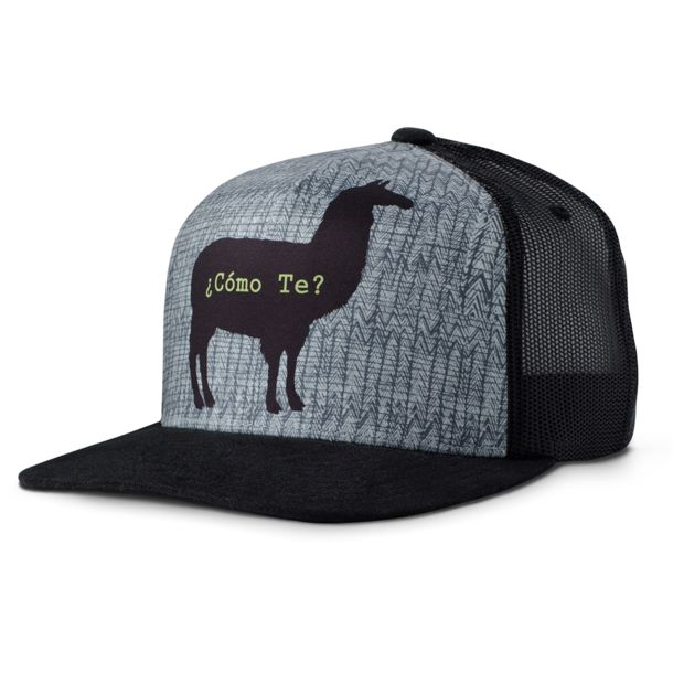 Prana Men s Journeyman Trucker Cap black llama ONE ... 68811bc2ff2