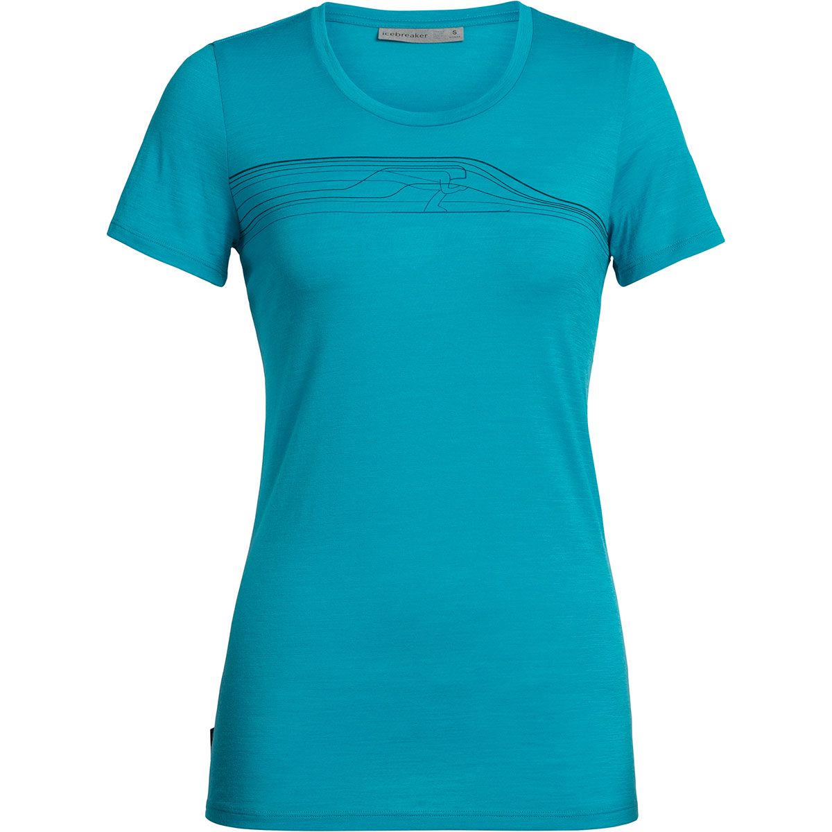 Icebreaker Damen Tech Lite Snow Speedster T-Shirt (Größe XS, Blau) | T-Shirts Funktion > Damen