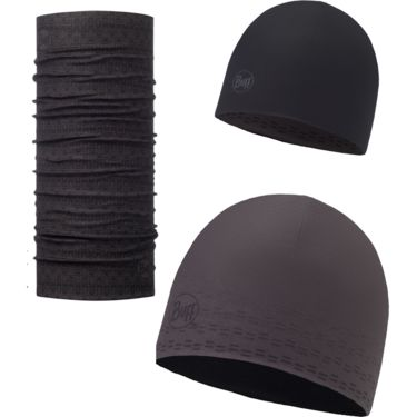 Buff Microfiber Reversible Hat +Original Buff Set Theo Graphite ONE SIZE